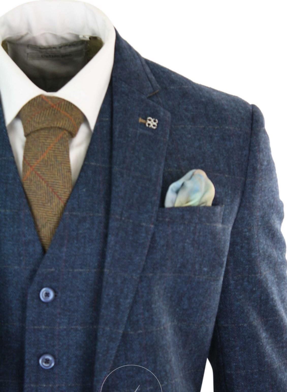 driedelig-kostuum-blauw-tweed